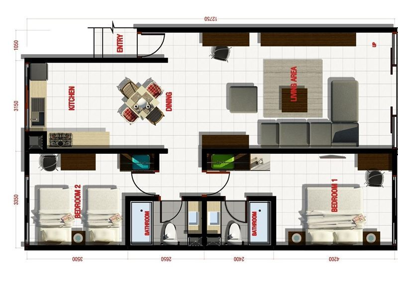 2 bedroom Suites